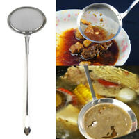 HB- Stainless Steel Long Handle Kitchen Food Water Oil Colander Strainer Fliter*