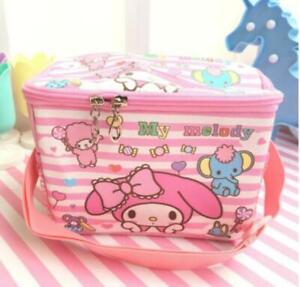 my melody head PU square lunch bag handbag storage bags fashion   gift