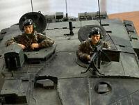 Heng Long Taigen Tank Part Figures British Tank Crew Figures w/ Beret 1:16 2 Pcs