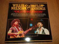 "WILLIE NELSON & WAYLON JENNINGS "" OLD FRIENDS "" COUNTRY VINYL LP EX/EX 1987"