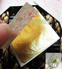 """24K 10 Sheets Genuine Pure Gold Leaf Gilding 1.18"""""""