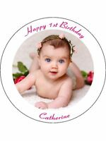 30 UNCUT EDIBLE WAFER CUP CAKE TOPPERS PERSONALISED PICTURE PHOTO TEXT IMAGE