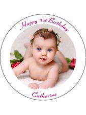 60 UNCUT EDIBLE WAFER CUP CAKE TOPPERS PERSONALISED PICTURE PHOTO TEXT IMAGE