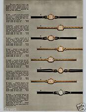 1957 PAPER AD 4 Pg Watch Gruen Jefferson Rendezvous Autowind Ascot Lisbon