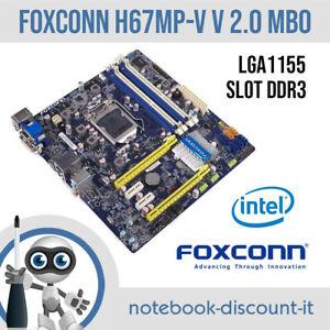 Motherboard Foxconn H67MP-V V2.0 LGA1155 DDR3 + COOLING FAN Scheda Madre TESTED