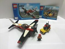 Lego CITY STUNT PLANE (60019) 100% Complete with manual and minifigs