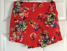 ATMOSPHERE GORGEOUS RED MULTI COLOUR MIX FLORAL PATTERN SKORTS BNWOT SIZE 10.