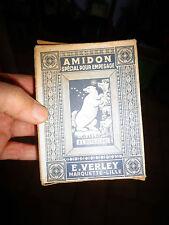 Ancienne Boite Carton AMIDON Empesage A L'OURS BLANC E Verley Marquette Lille