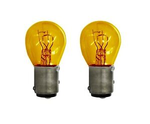 Philips 1157NA 12 Volt Amber S8 Turn Signal Parking Mini Light Bulb Lot of 2