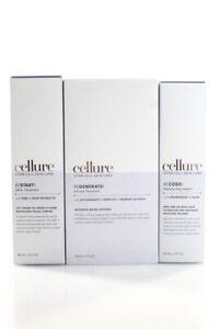 Cellure Stem Cell Skin Care 3 Step Toner Cleanser Serum Booster System Full Set