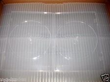 LOT OF 15 Slim 7mm HOLDS 2 DISC DOUBLE Super Clear CD DVD R PP Poly Plastic DUEL