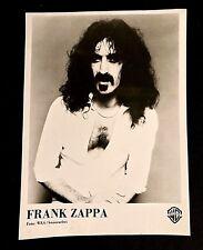 1976 FRANK ZAPPA RARE GERMAN ZOOT ALLURES PROMO PHOTO WARNER BROS BEEFHERT HOE