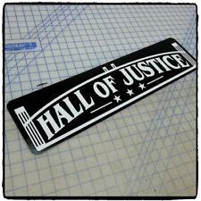 "Justice League - Hall of Justice 6""x24"" Aluminum Sign"