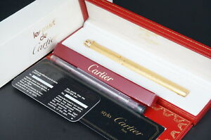 Cartier Ballpoint pen ST10306 Brut Vendome Vintage Rare Gold w/Box #C71