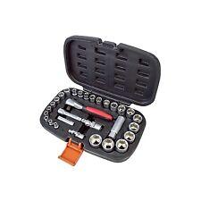 "New 30pc 1/4"" & 3/8"" Drive Socket Set CRV Sockets Mechanic Garage Home Ratchet"
