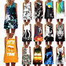 Womens Summer Sleeveless Floral Beach Dress Ladies Strapless Mini Sundress