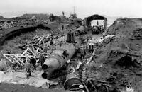 WW2 Picture Photo Captured Japanese midget subs Kiska Aleutians WWII 0051