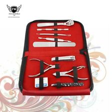 Professional Manicure, Pedicure Stainless Steel Set, 10 Piece Kit