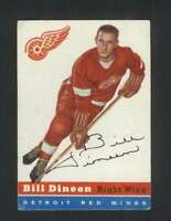 1954-55 Topps #57 Bill Dineen EX/EX+ Red Wings 108165