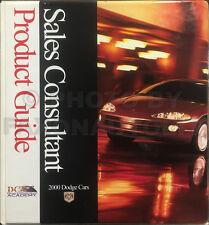 2000 Dodge Car Sales Guide Dealer Album Viper Neon Avenger Intrepid Stratus