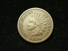 SUMMER SALE!  VF 1886 INDIAN HEAD CENT PENNY w/PARTIAL LIBERTY &  DIAMONDS 149s
