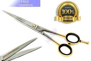 """6.5"""" GERMAN HAIRDRESSING PROFESSIONAL BARBER SCISSORS WITH GOLD RINGS"""