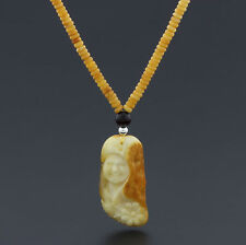 Natural Baltic Amber Necklace with Pendant Tablet Beads 18gr 24.8 inches NP70