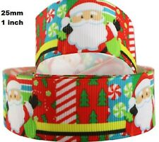 1 metre, CHRISTMAS RIBBON,  25 mm, Grosgrain, 1 inch, Santa, Hair, Free Aus Post