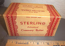 Vintage sterling velvetized creamery butter container Sterling Kansas, phone 248