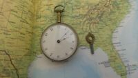 Antique unusual quarter repeater pocket watch cylinder Eustace Durran Banbury
