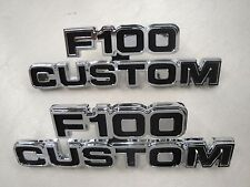 77 78 79 1977 1978 1979  FORD TRUCK F-100 CUSTOM CHROME EMBLEM NEW
