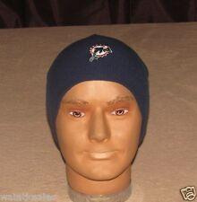 Miami Dolphins NFL Football Cuffless Blue Winter Knit Hat Beanie New Reebok