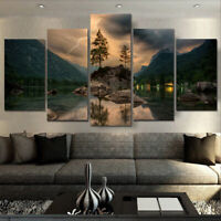 Modern 5 Panels Unframed Canvas Art Oil Painting Picture Room Wall Hanging Decor