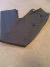 TROUSERS MINKY BROWN SIZE L NICE DETAIL STRETCHY