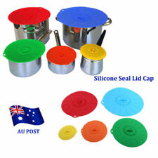 Home Kitchen Anti-dust Glass Microwave Bowl Cover Suction Seal Lid Silicon BK