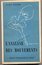 LUCIEN BARNIER, ANALYSE DES MOUVEMENTS (2 TOMES) 1950