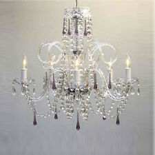 AMETHYST PURPLE CRYSTAL CHANDELIER *FREE SHIPPING!*