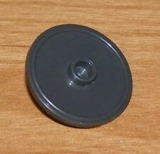 LEGO - Minifig, Shield Round with Stud and Ring Around Edge - Pearl Dark Gray