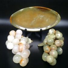 Vintage Agate Bunch Of Grapes Italian Agate Fruit Moss Agate Dish