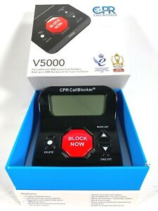 CPR CALL BLOCKER V5000 block up to 1500 numbers PRE-LOADED W/ 5000 SCAM NUMBERS