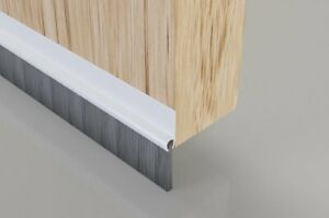 Door bottom brush strip, reduce heat loss. Draught Excluder. COMBINED POSTAGE.