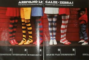 Velca Collant Bas Pantyhose - Print Ad TWO pages - year 1972 - exgrz