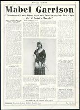 1919 Mabel Garrison photo opera singing recital tour booking trade print ad