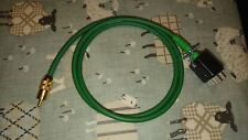 Single QUAD II Monoblock Jones Plug to phono plug leads 1 meter in Green