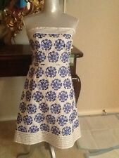 Womens Rare LILLY PULITZER Stunning heavily Embroidered fish Dress Size 6 NWT