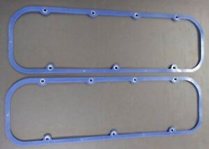 CHEVROLET CAMARO NOVA CHEVELLE BBC BLUE SILICONE STEEL CORE VALVE COVER GASKETS