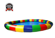 Commercial Inflatable Pool 24 Foot Round Heavy Duty Free Blower Multi Color