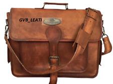"""Men's Messenger Shoulder 15"""" 16"""" 17"""" 18"""" Laptop Briefcase Vintage Leather Bag"""