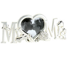 MR & MRS Photo Frame Silver Finish Wedding Day Anniversary Gift FS489