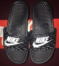 060d375d1b0d Nike Women s Benassi Just Do It JDI Print 618919 017 Black Women US Size 6